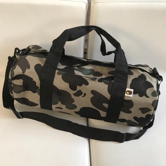16b06f721dbc Bape Other - A Bathing Ape Camouflage Duffel Gym Bag